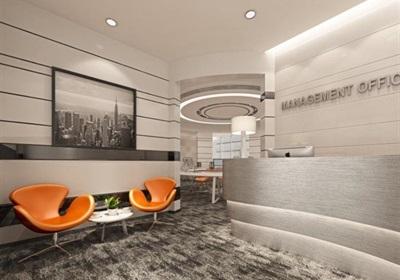 现代创意办公户型样板间cad施工图+效果图