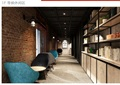 工业风办公室空间装饰cad施工图+效果图+物料