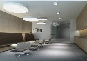 详细的办公楼研发楼办公空间设计cad施工图+效果图