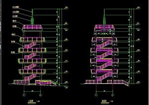 某详细的完整观光塔cad施工图