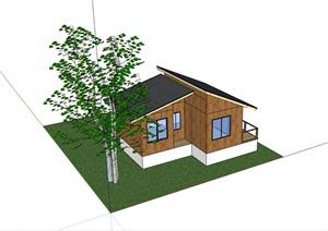 中式度假别墅住宅设计SU(草图大师)模型