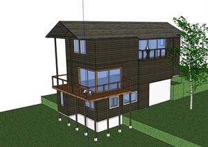 多层详细的别墅住宅设计SU(草图大师)模型