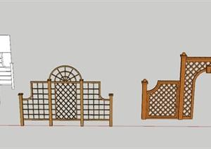 中式 欧式 常用木格栅组合