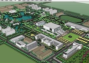 某详细的完整小学景观规划设计SU(草图大师)亿博网络平台