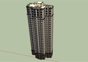 高层详细的完整小区居住楼SU(草图大师)亿博网络平台
