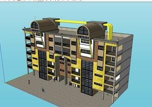 某完整的独特详细的小区居住楼SU(草图大师)亿博网络平台