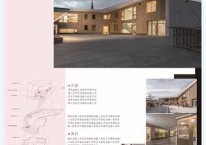 详细的两层建筑毕业设计psd展板