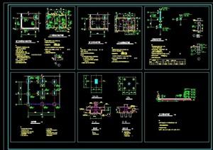 某完整的獨特結構設計cad標準圖例