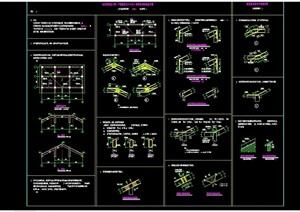 某详细的完整建筑节点构造cad详图