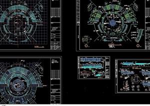 详细的完整独特中心广场景观设计cad施工图