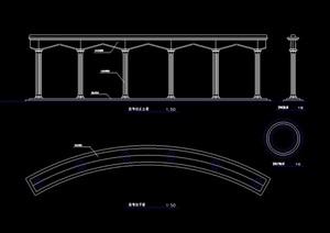 园林景观柱设计cad施工图