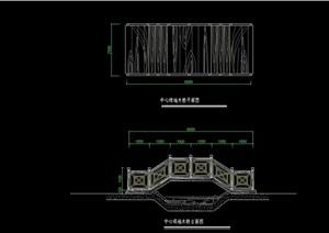 中式风格桥汀设计cad施工图