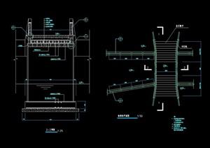 详细的园桥桥汀设计cad施工图