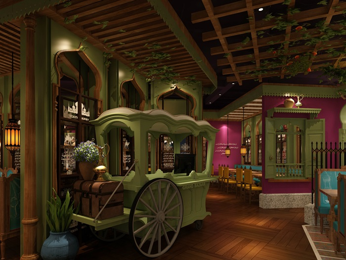 民族风餐厅设计(1)
