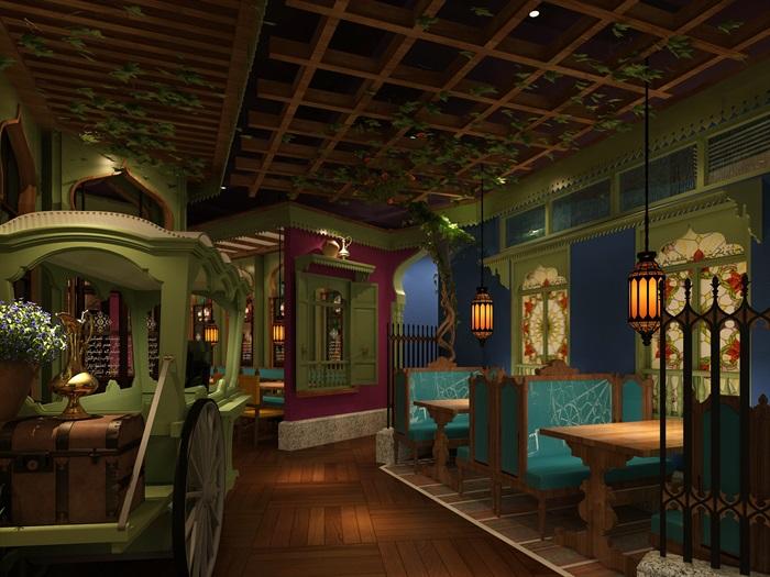 民族风餐厅设计(3)