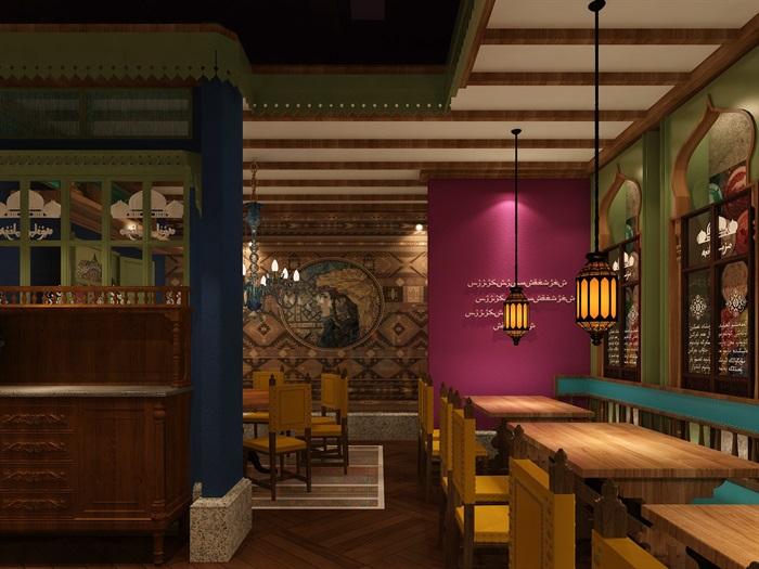 民族风餐厅设计(4)