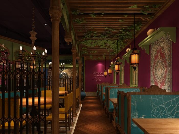 民族风餐厅设计(5)