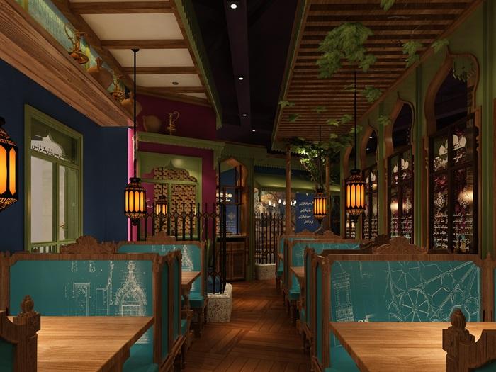 民族风餐厅设计(6)
