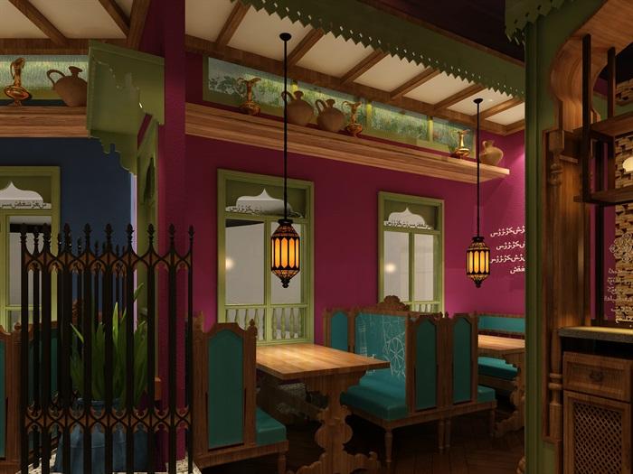民族风餐厅设计(8)