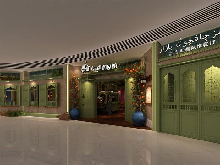 民族风餐厅设计(12)
