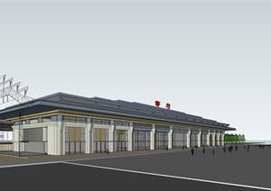 某市都匀东站高铁站方案模型