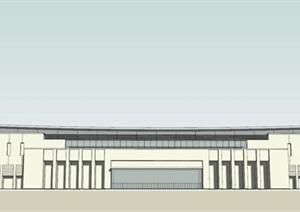 某市保定中式风格高铁站建筑方案模型