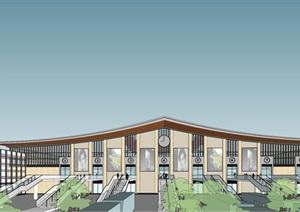 某市高县中心客运站 站房设计方案三