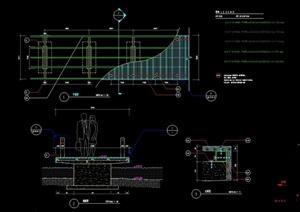 跌水桥详细完整设计cad施工图