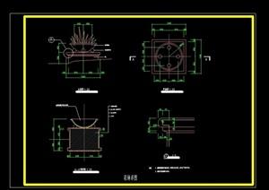 详细的现代风格完整花钵cad施工详图