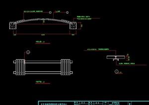 详细的中式木桥cad详图