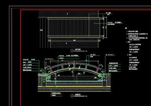 中式风格详细的木桥园桥设计cad施工图
