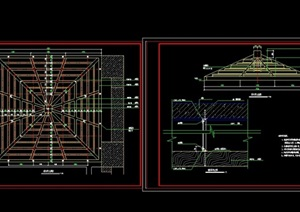 详细的完整木吊亭cad施工图