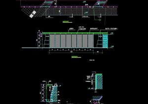 详细的完整挡墙景观节点cad施工图