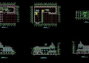 某详细的欧式风格滑铁卢饭店详细建筑设计cad施工图