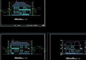 详细的欧式住宅别墅设计cad方案