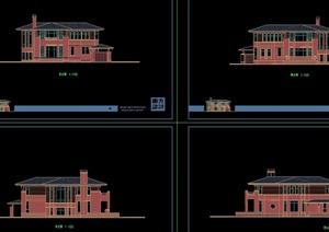详细的多层欧式住宅别墅设计cad方案