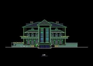 欧式风格独栋住宅别墅设计cad方案