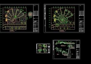 詳細的完整廣場景觀設計cad施工圖