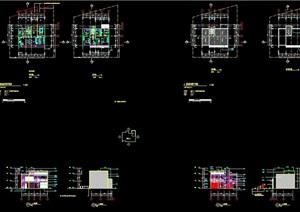 详细的多种别墅建筑设计cad施工图