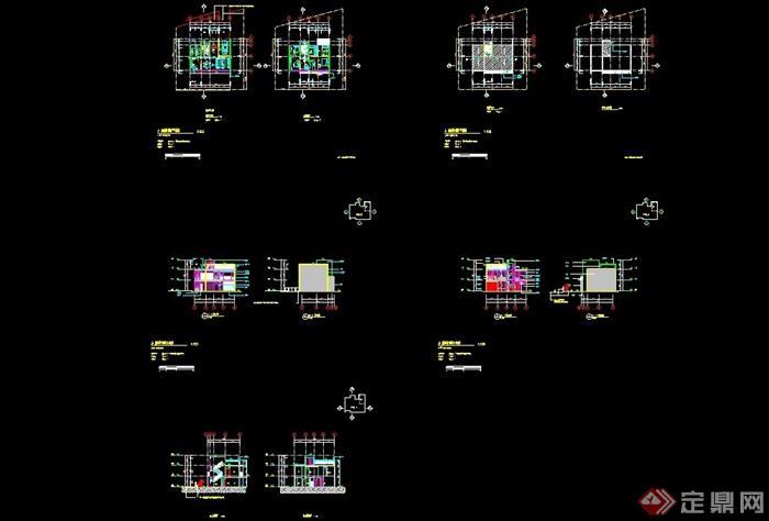 詳細的多種別墅建筑設計cad施工圖