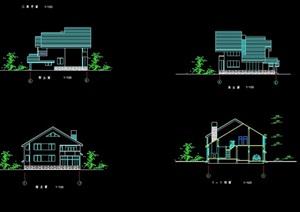 详细的欧式风格多层别墅独栋设计cad施工图