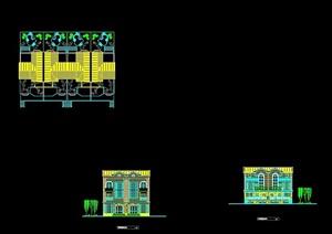 欧式风格详细的完整别墅建筑设计cad方案