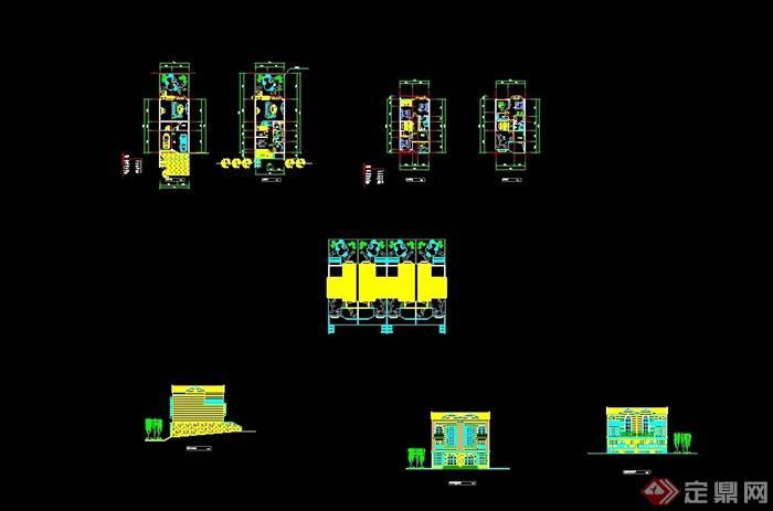 歐式風格詳細的完整別墅建筑設計cad方案