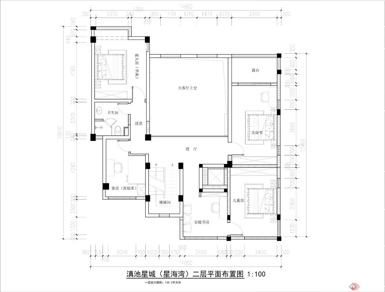 二层平面布局设计图
