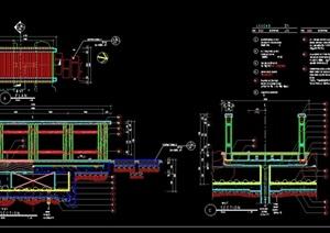 详细的完整园林景观园桥设计cad施工图