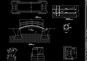 园桥拱桥节点设计cad方案图