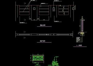 详细的完整围墙景观节点cad施工图