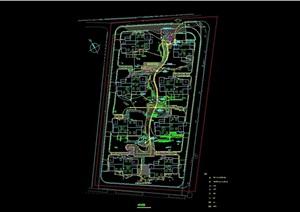 住宅小區景觀規劃節點cad方案圖